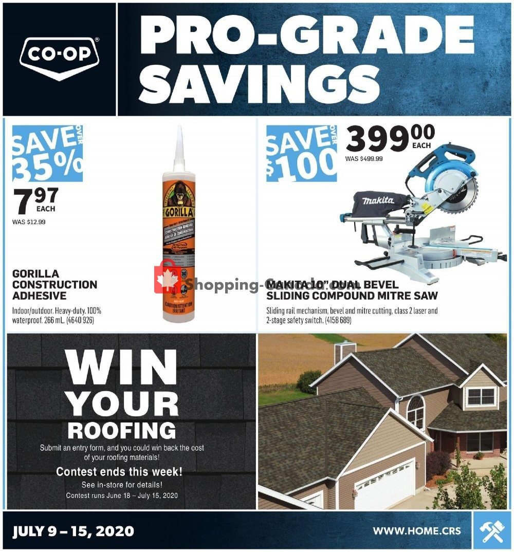 Flyer Co-op Canada - from Thursday July 9, 2020 to Wednesday July 15, 2020