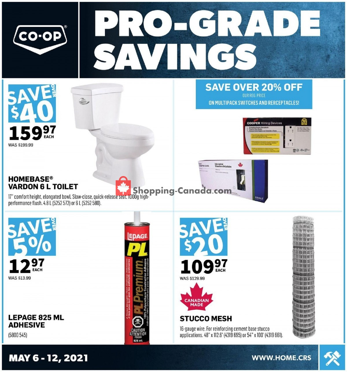 Flyer Co-op Canada - from Thursday May 6, 2021 to Wednesday May 12, 2021