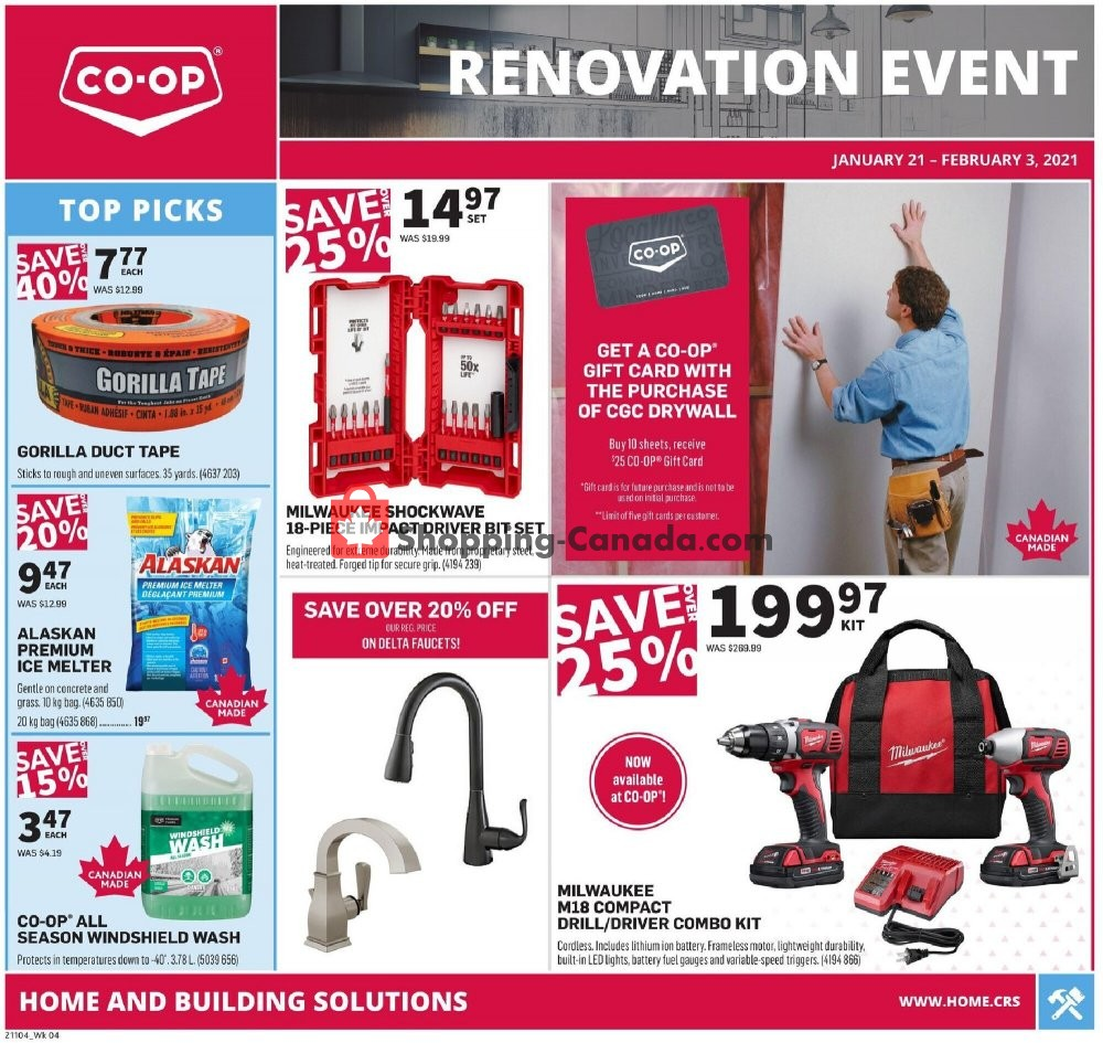 Flyer Co-op Canada - from Thursday January 21, 2021 to Wednesday February 3, 2021