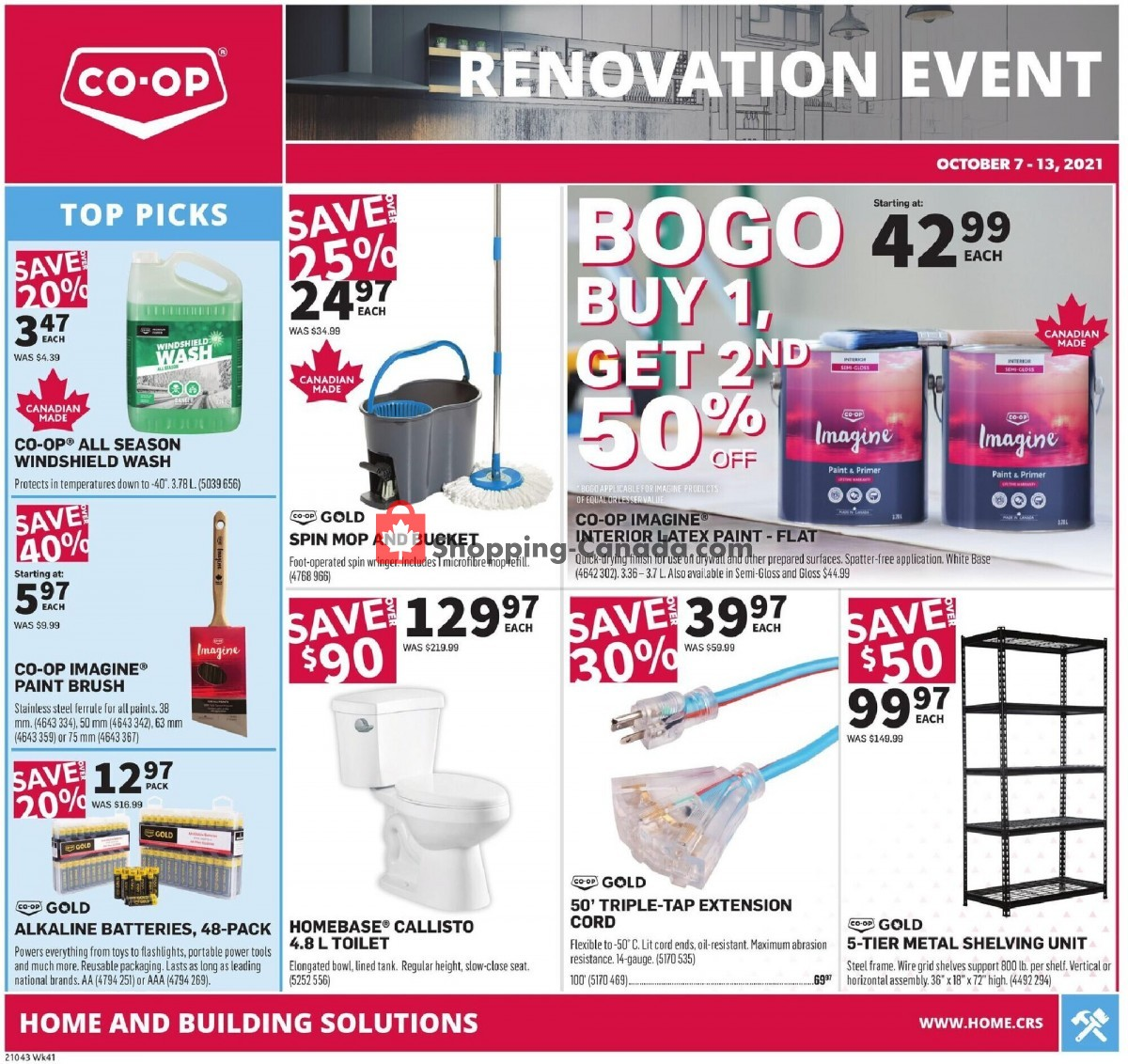 Flyer Co-op Canada - from Thursday October 7, 2021 to Wednesday October 13, 2021
