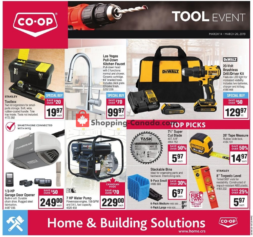 Flyer Co-op Canada - from Thursday March 14, 2019 to Wednesday March 20, 2019