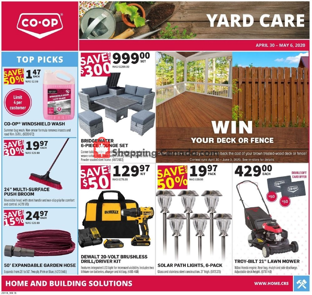Flyer Co-op Canada - from Thursday April 30, 2020 to Wednesday May 6, 2020