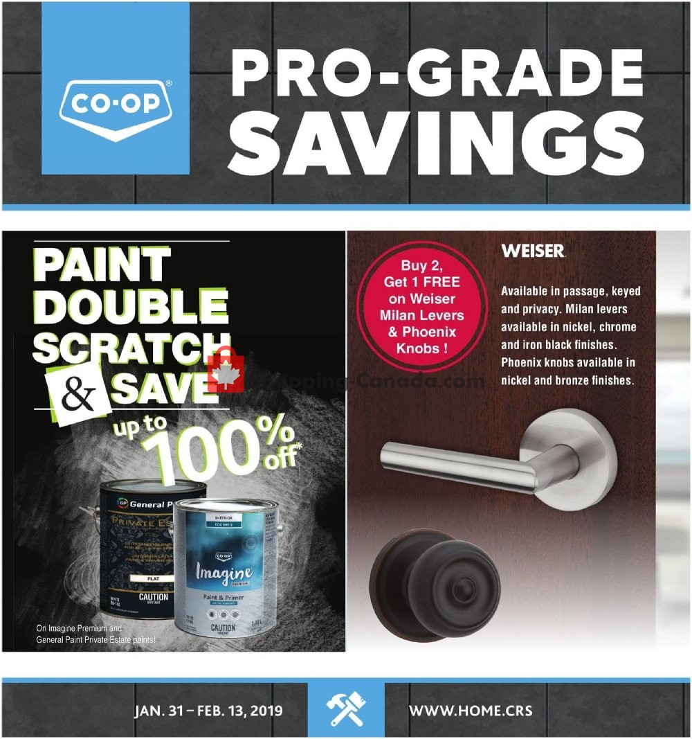 Flyer Co-op Canada - from Thursday January 31, 2019 to Wednesday February 13, 2019