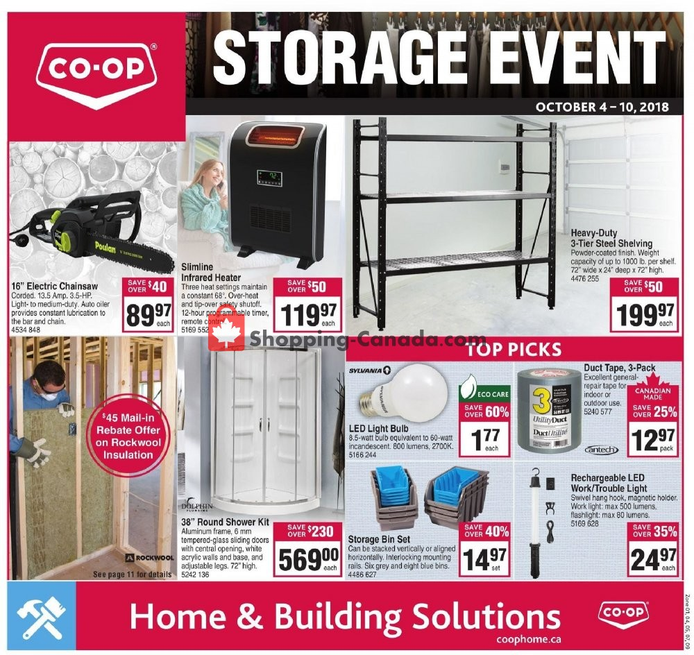 Flyer Co-op Canada - from Thursday October 4, 2018 to Wednesday October 10, 2018