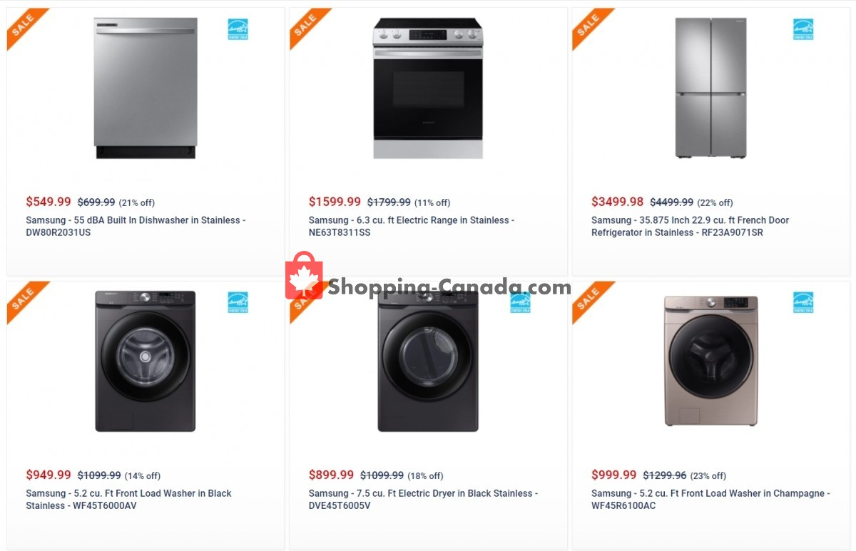 Flyer Coast Appliances Canada - from Thursday May 27, 2021 to Wednesday June 16, 2021