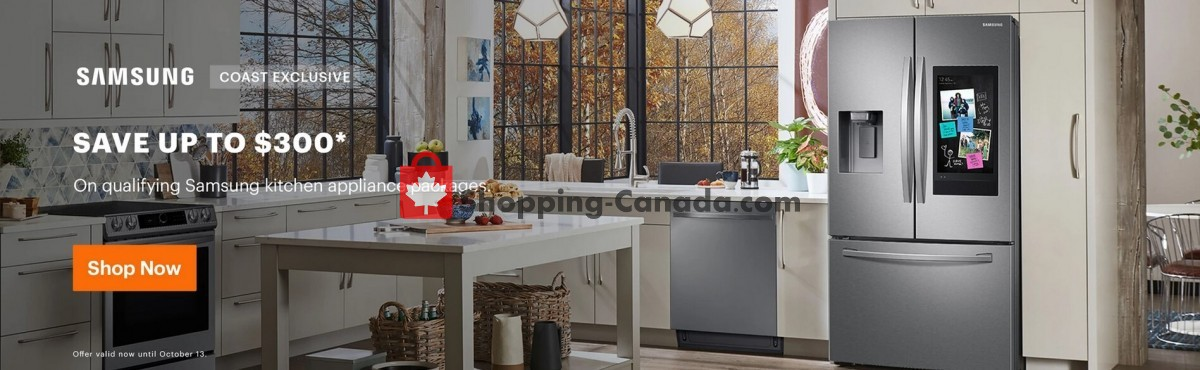 Flyer Coast Appliances Canada - from Thursday October 7, 2021 to Wednesday October 13, 2021