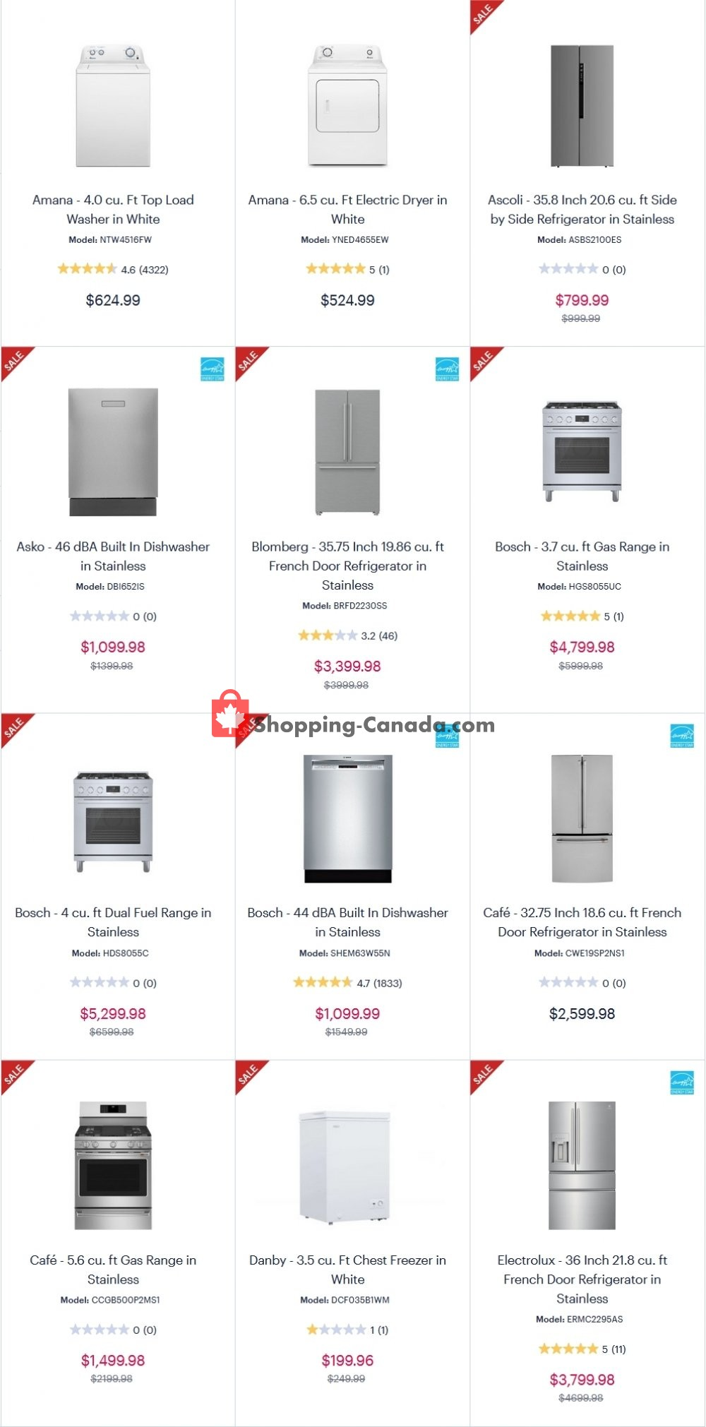 Flyer Coast Appliances Canada - from Thursday December 17, 2020 to Wednesday December 23, 2020