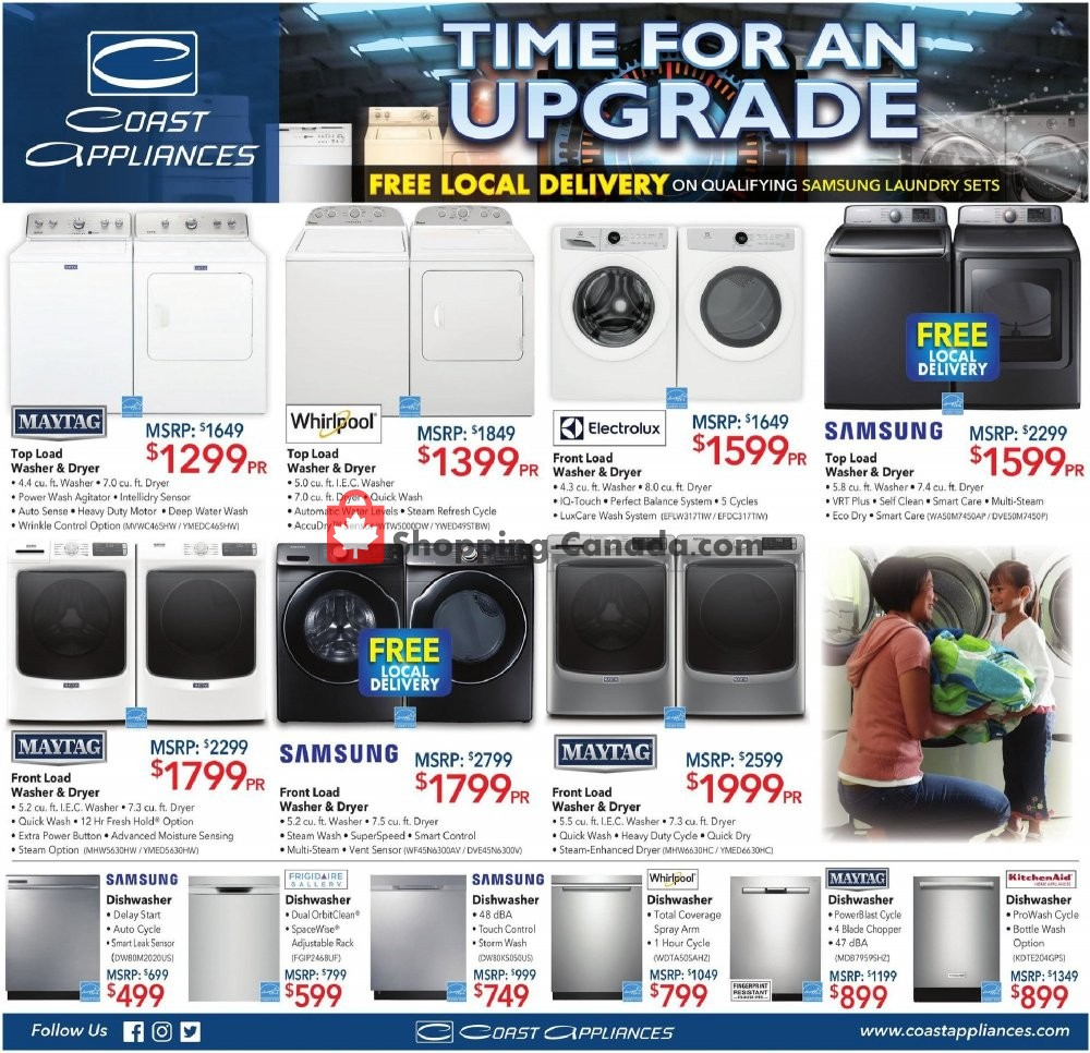 Flyer Coast Appliances Canada - from Thursday May 2, 2019 to Wednesday May 15, 2019