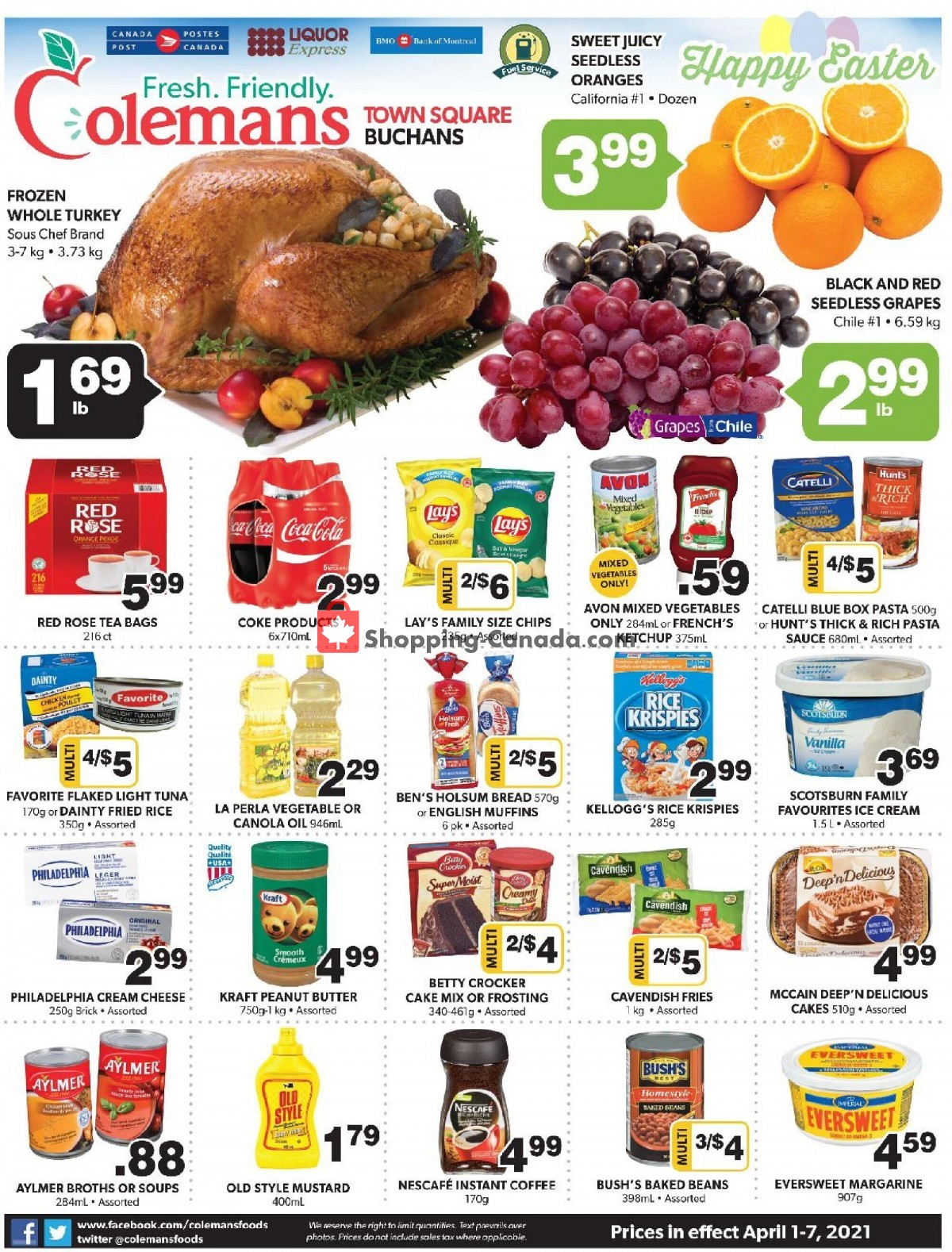 Flyer Coleman's Canada - from Thursday April 1, 2021 to Wednesday April 7, 2021