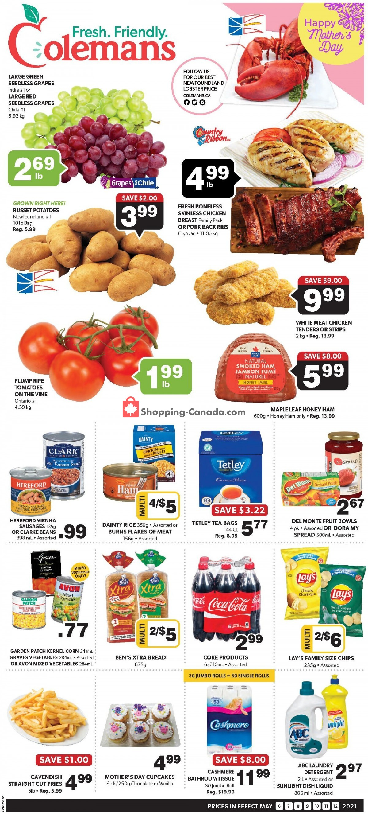 Flyer Coleman's Canada - from Thursday May 6, 2021 to Wednesday May 12, 2021