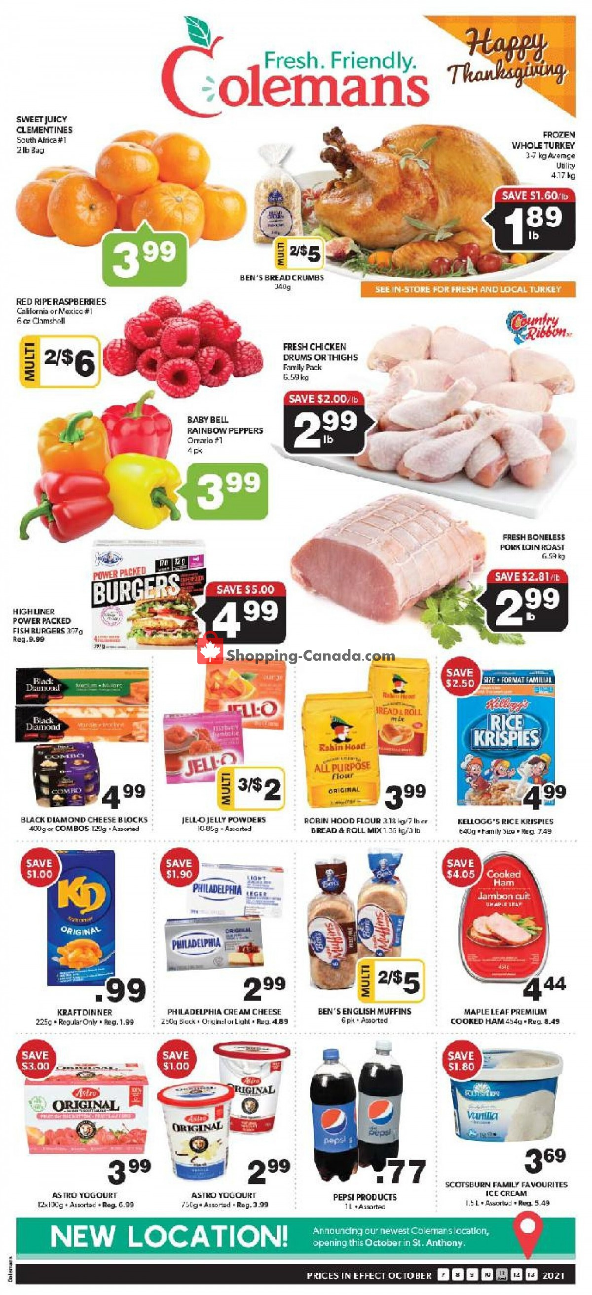 Flyer Coleman's Canada - from Thursday October 7, 2021 to Wednesday October 13, 2021