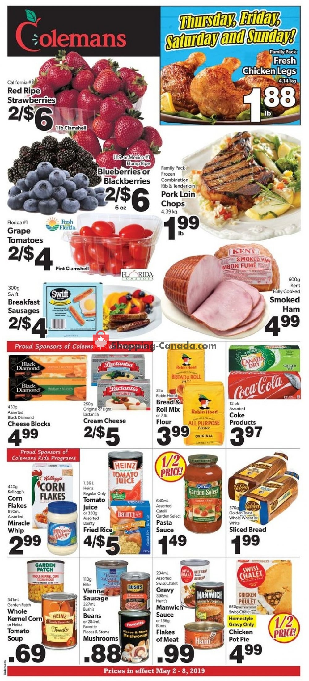 Flyer Coleman's Canada - from Thursday May 2, 2019 to Wednesday May 8, 2019