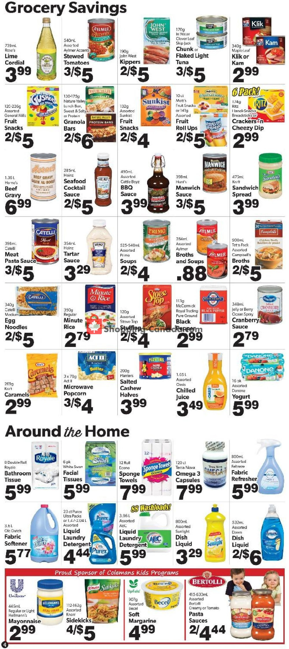 Flyer Coleman's Canada - from Thursday November 7, 2019 to Wednesday November 13, 2019