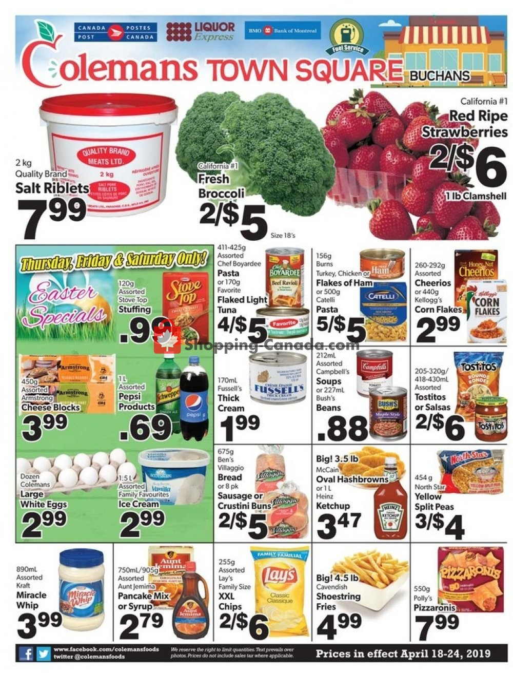 Flyer Coleman's Canada - from Thursday April 18, 2019 to Wednesday April 24, 2019
