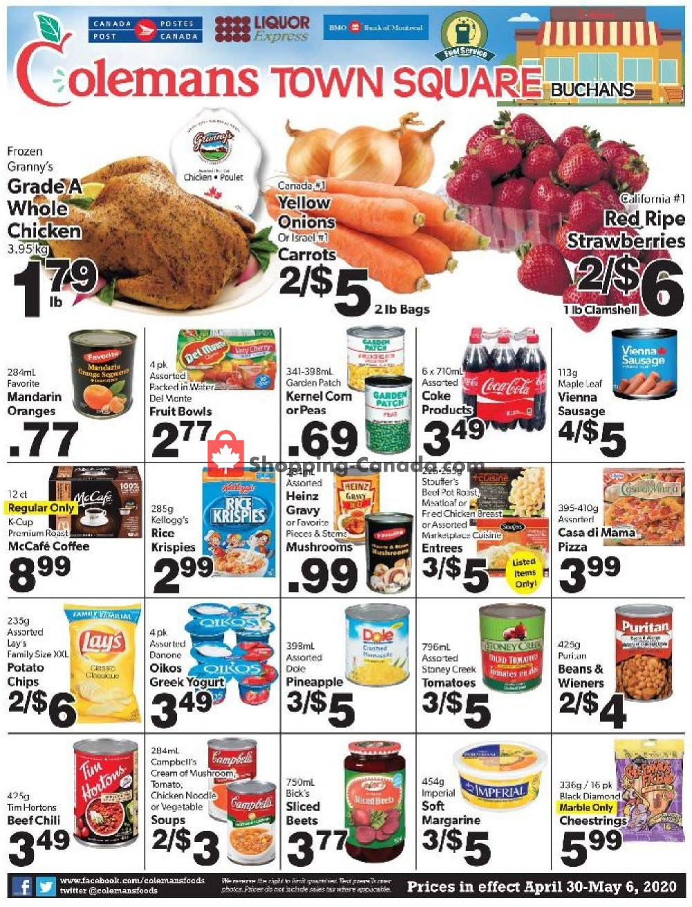 Flyer Coleman's Canada - from Thursday April 30, 2020 to Wednesday May 6, 2020