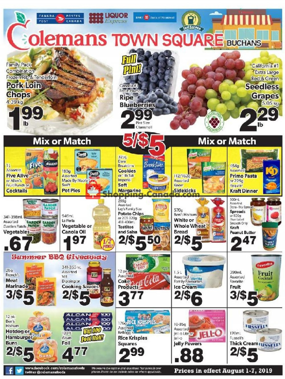 Flyer Coleman's Canada - from Thursday August 1, 2019 to Wednesday August 7, 2019