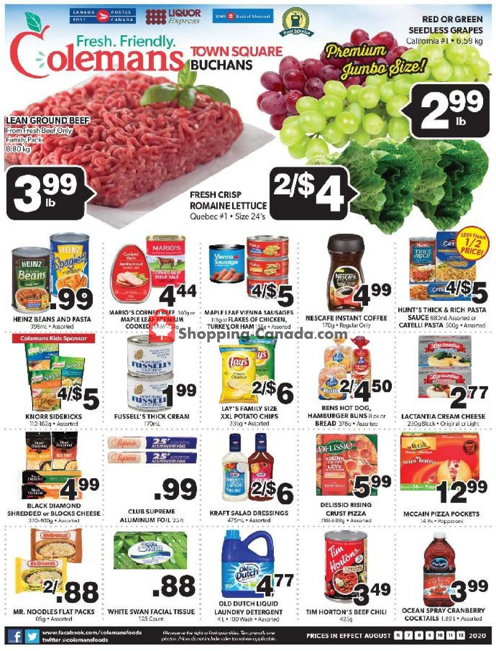 Flyer Coleman's Canada - from Thursday August 6, 2020 to Wednesday August 12, 2020