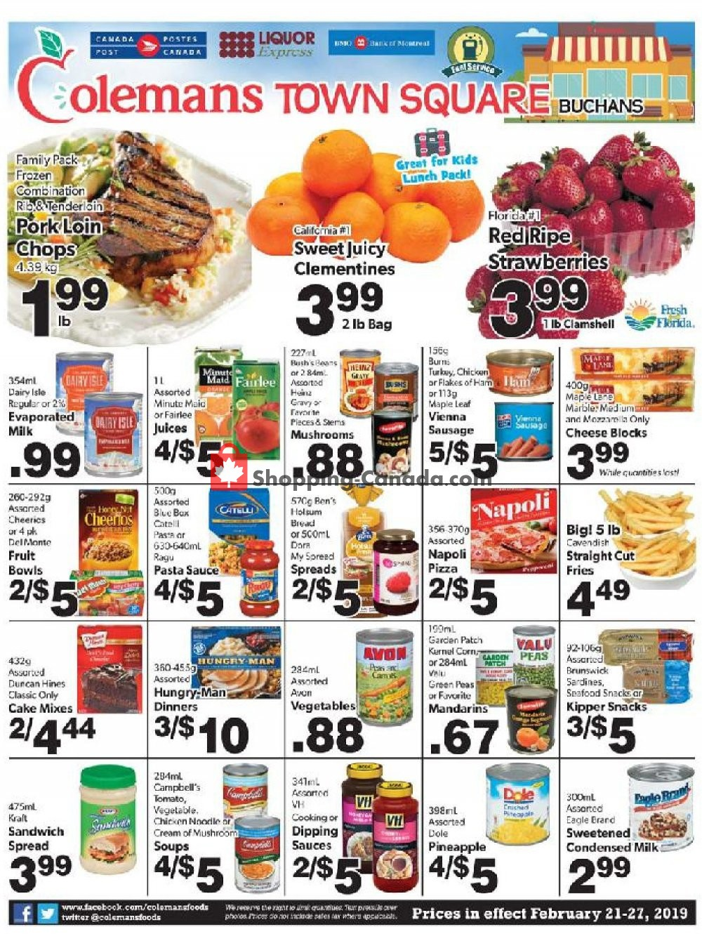 Flyer Coleman's Canada - from Thursday February 21, 2019 to Wednesday February 27, 2019