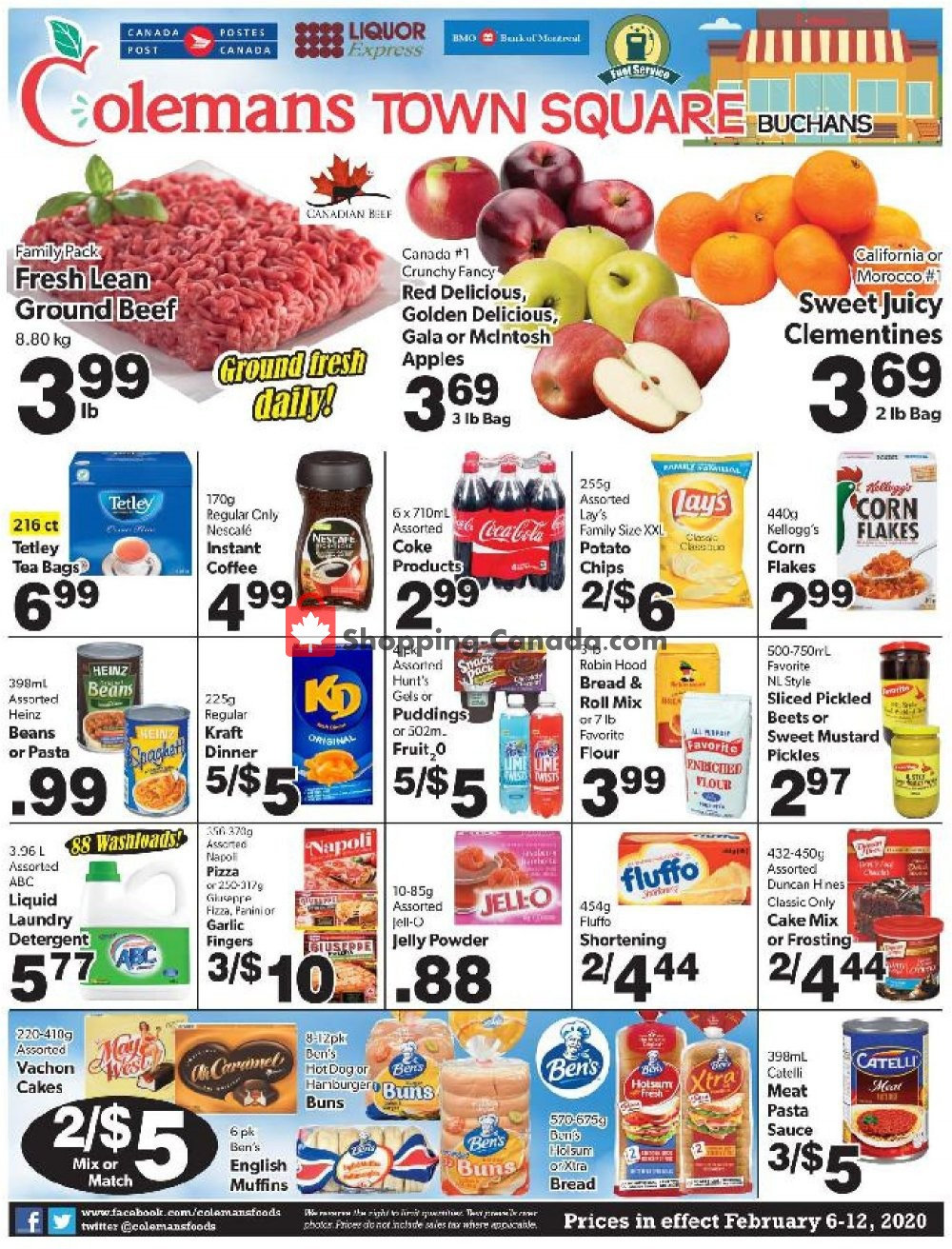 Flyer Coleman's Canada - from Thursday February 6, 2020 to Wednesday February 12, 2020