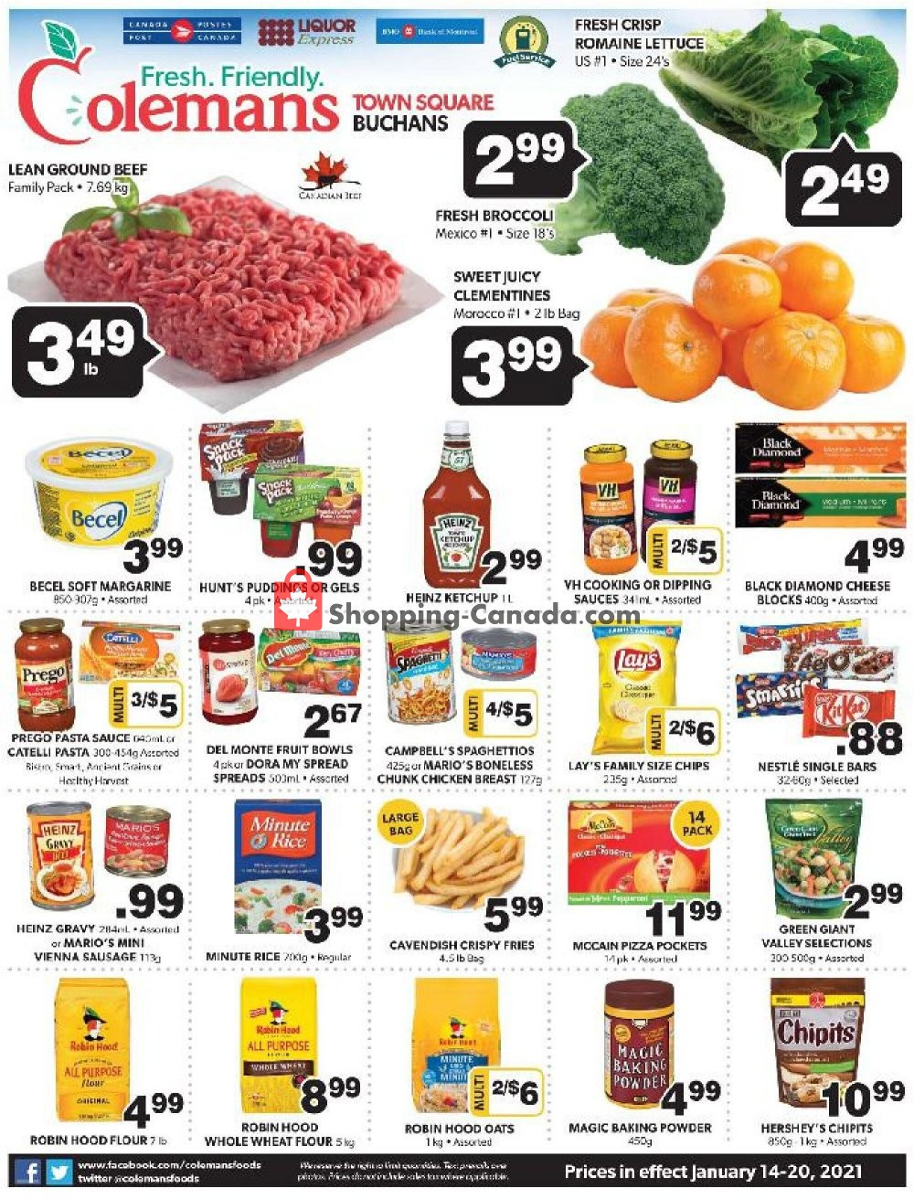 Flyer Coleman's Canada - from Thursday January 14, 2021 to Wednesday January 20, 2021