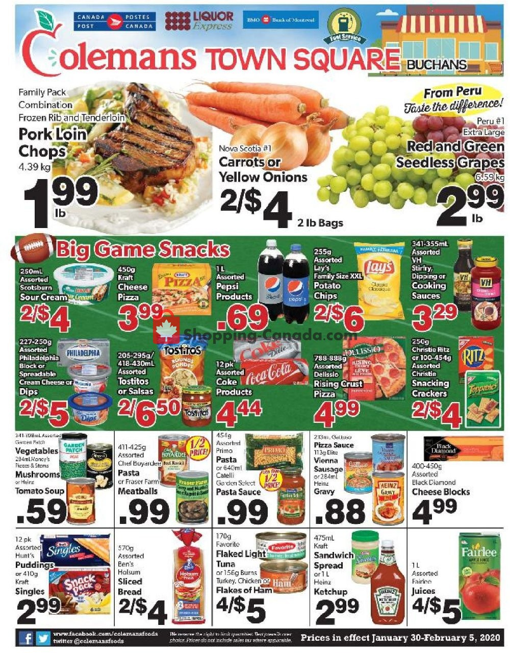 Flyer Coleman's Canada - from Thursday January 30, 2020 to Wednesday February 5, 2020