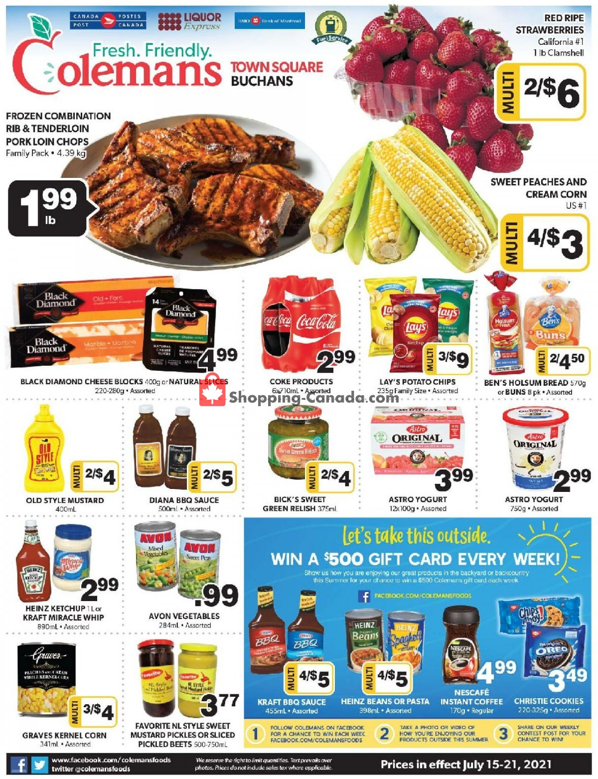 Flyer Coleman's Canada - from Thursday July 15, 2021 to Wednesday July 21, 2021
