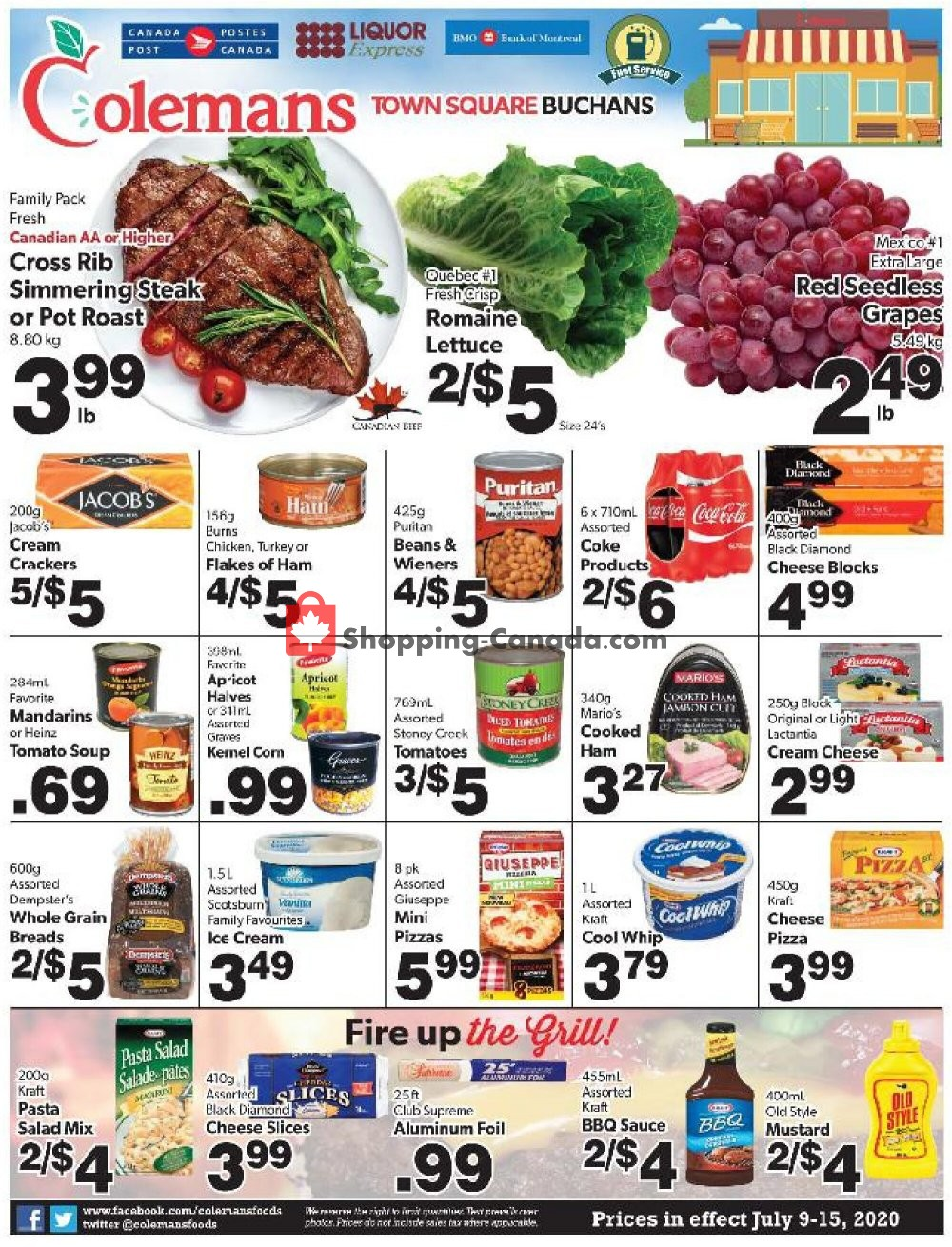 Flyer Coleman's Canada - from Thursday July 9, 2020 to Wednesday July 15, 2020