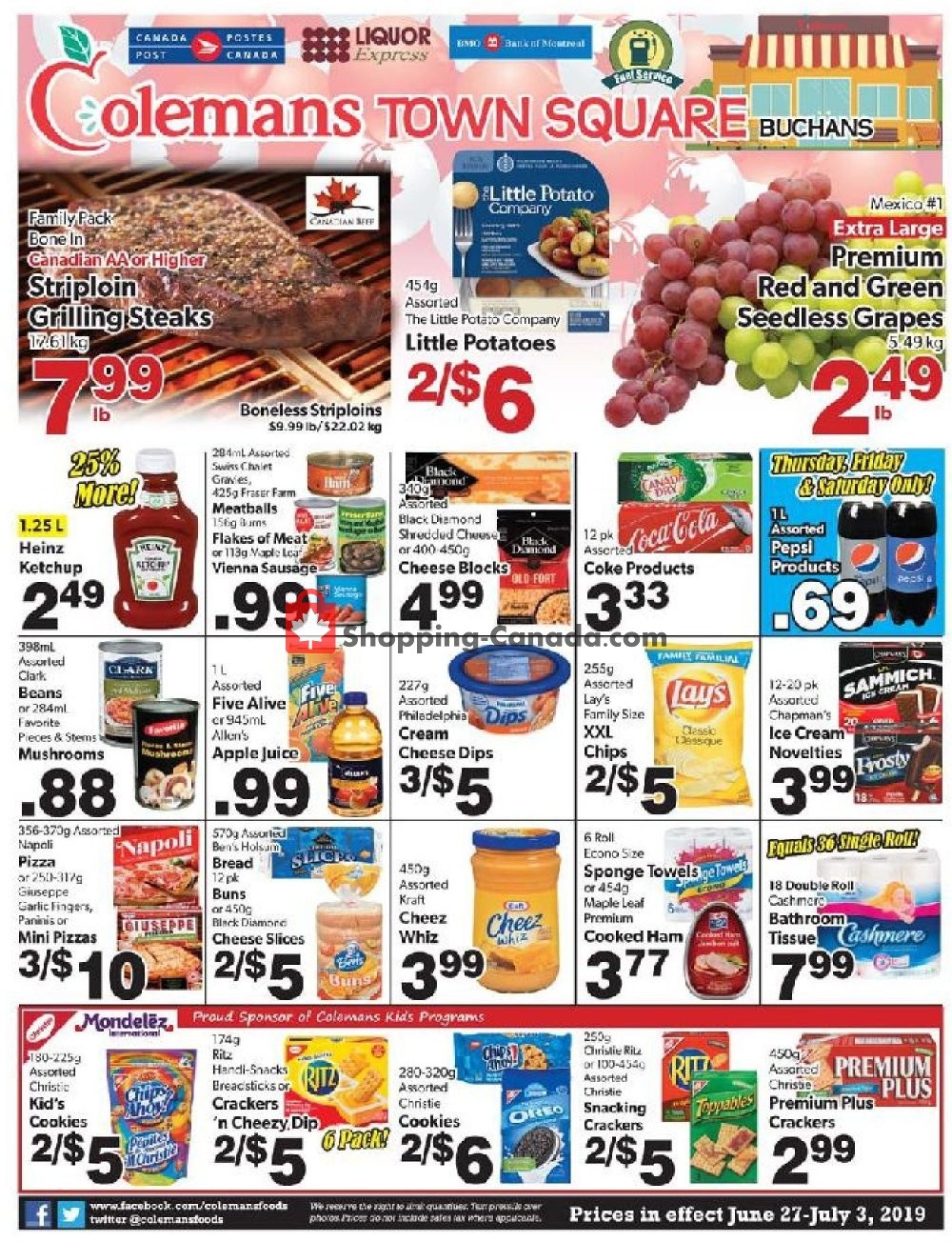 Flyer Coleman's Canada - from Thursday June 27, 2019 to Wednesday July 3, 2019