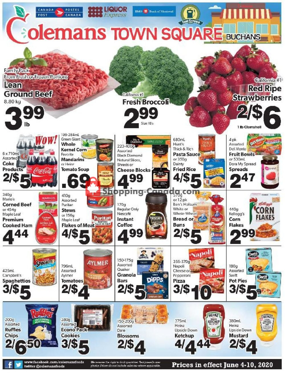 Flyer Coleman's Canada - from Thursday June 4, 2020 to Wednesday June 10, 2020