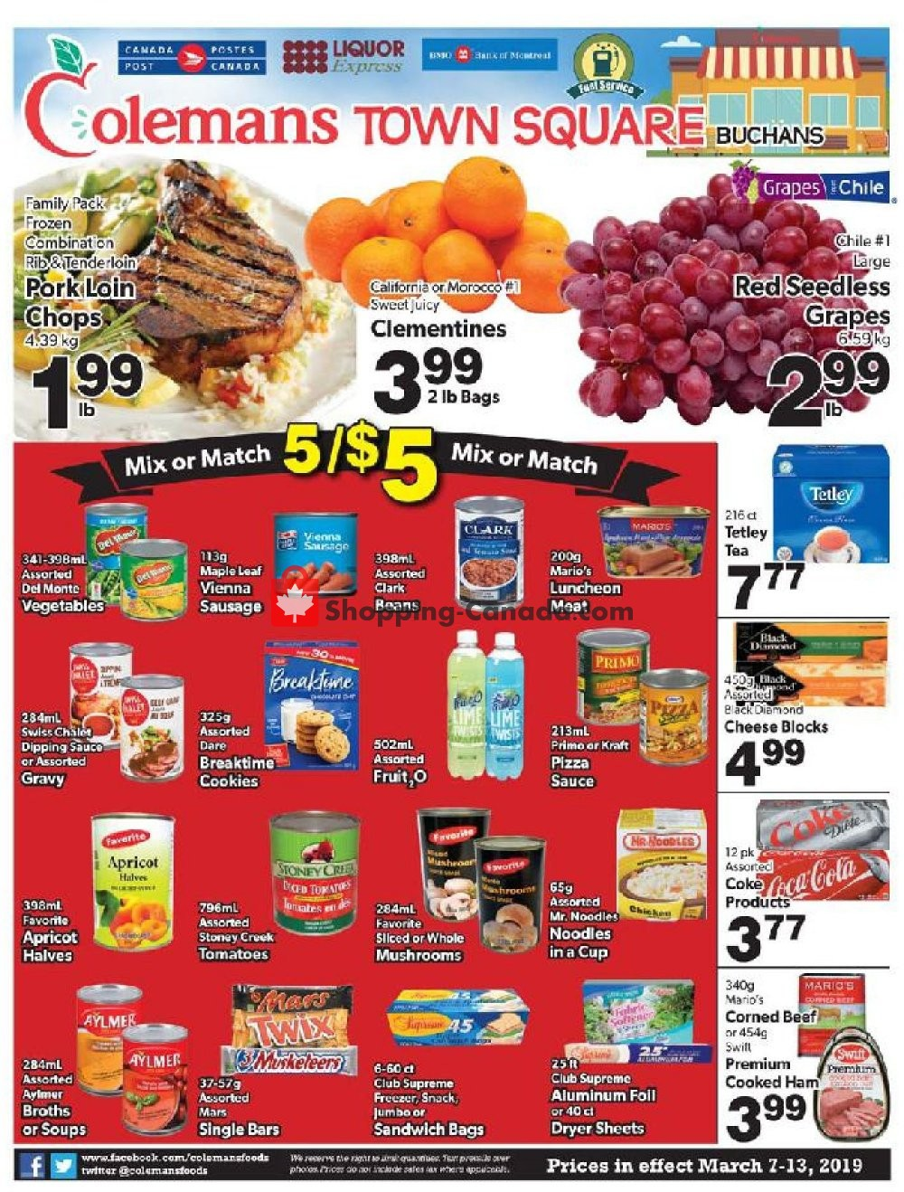 Flyer Coleman's Canada - from Thursday March 7, 2019 to Wednesday March 13, 2019