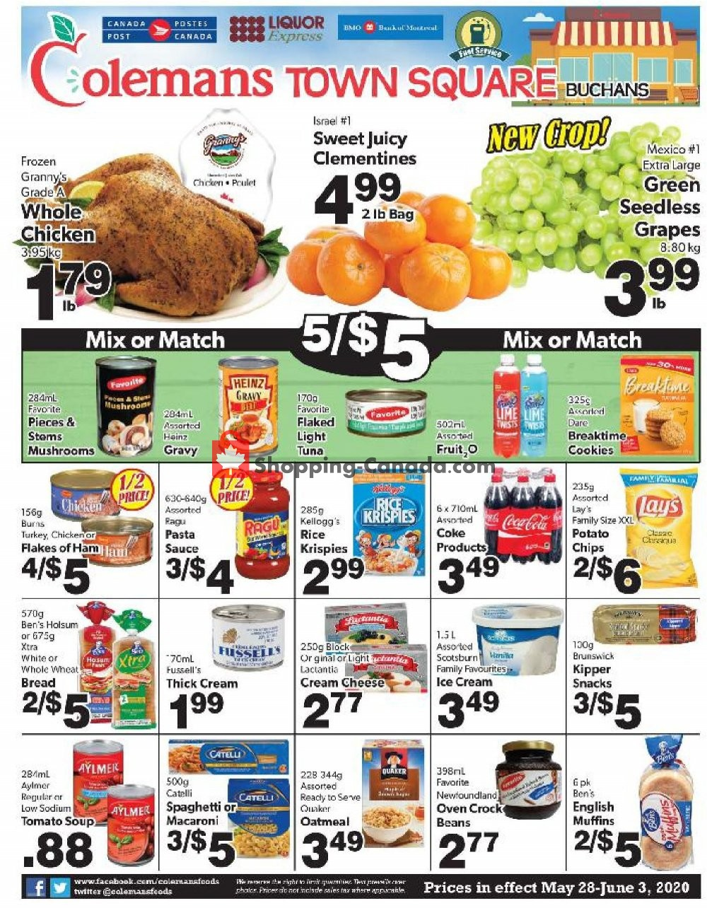 Flyer Coleman's Canada - from Thursday May 28, 2020 to Wednesday June 3, 2020