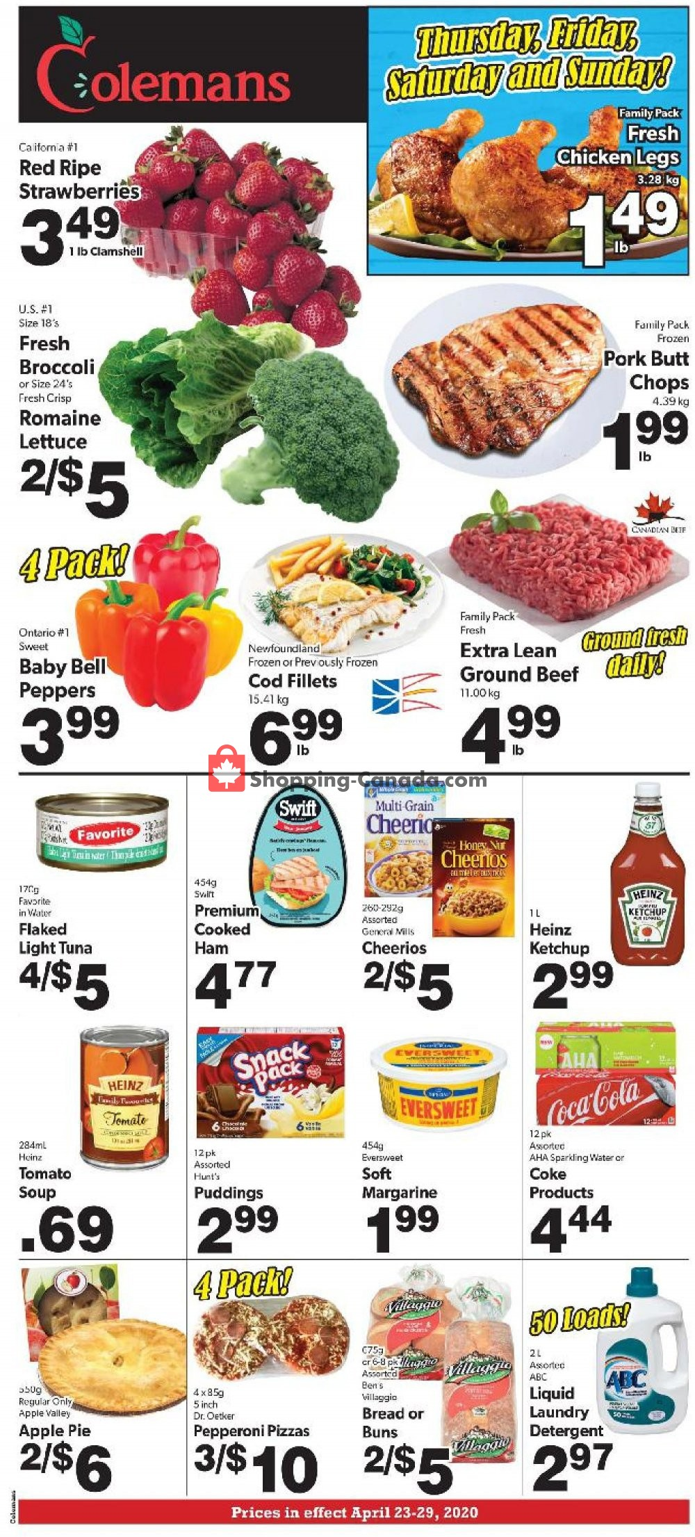 Flyer Coleman's Canada - from Thursday April 23, 2020 to Wednesday April 29, 2020
