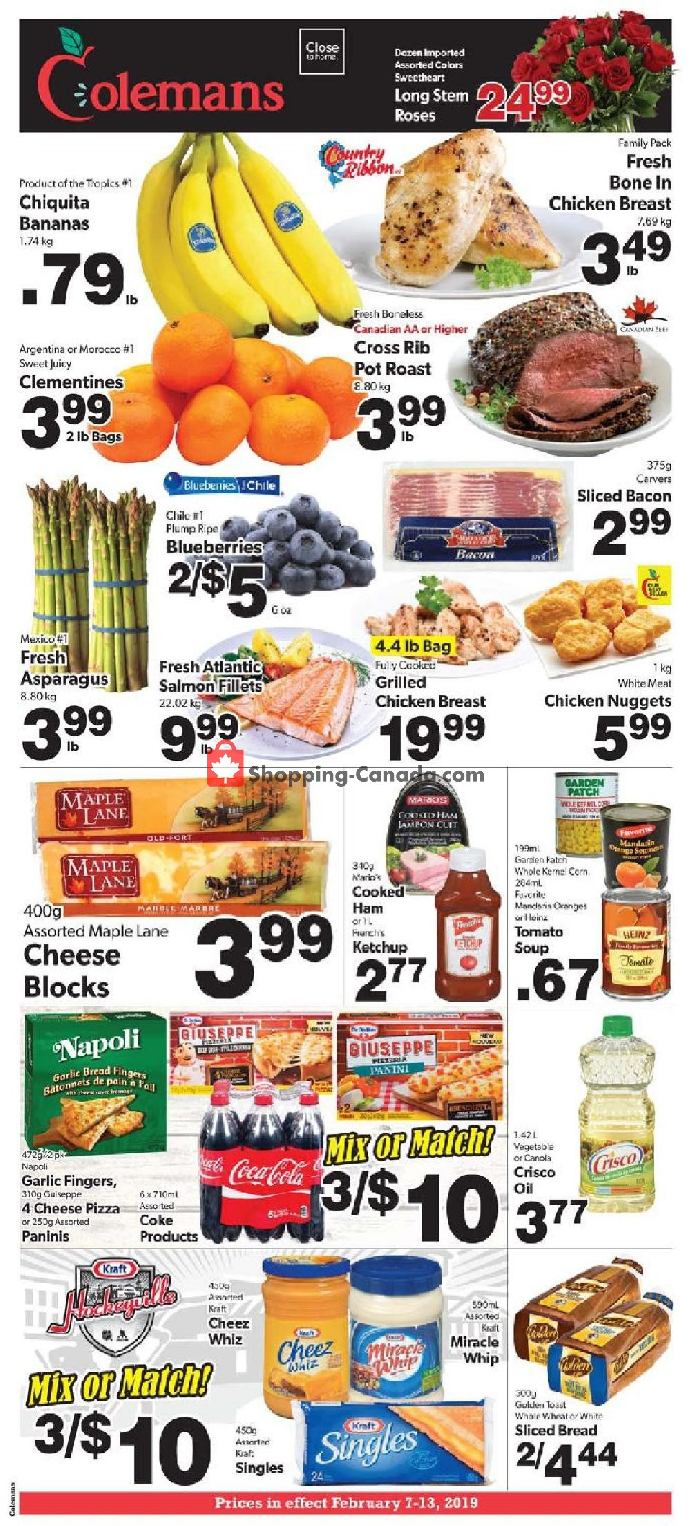Flyer Coleman's Canada - from Thursday February 7, 2019 to Wednesday February 13, 2019