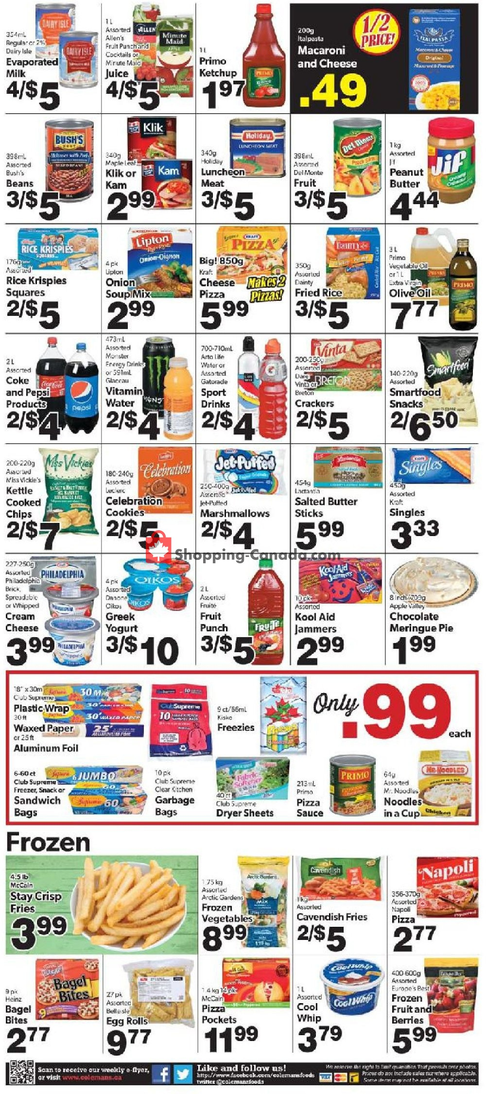 Flyer Coleman's Canada - from Thursday July 11, 2019 to Wednesday July 17, 2019