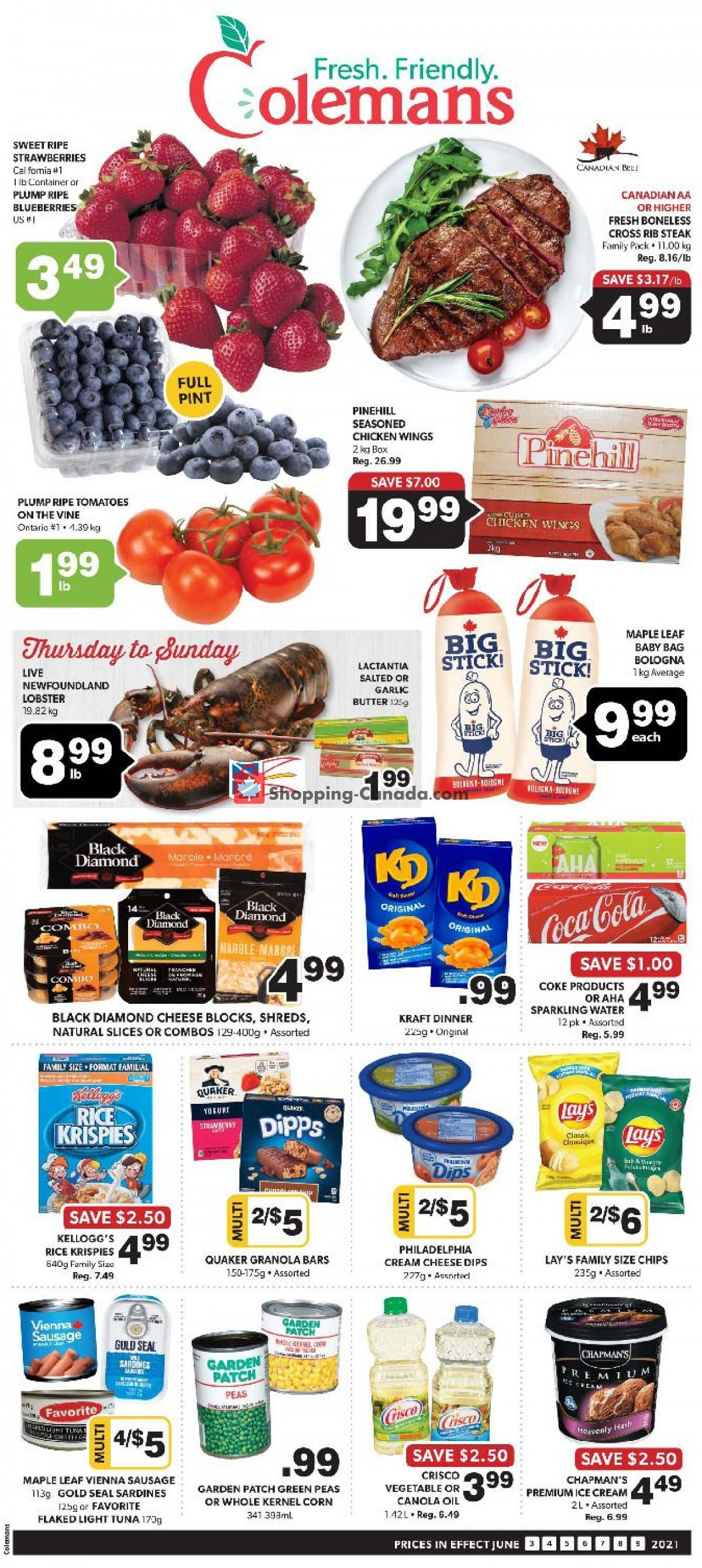 Flyer Coleman's Canada - from Thursday June 3, 2021 to Wednesday June 9, 2021