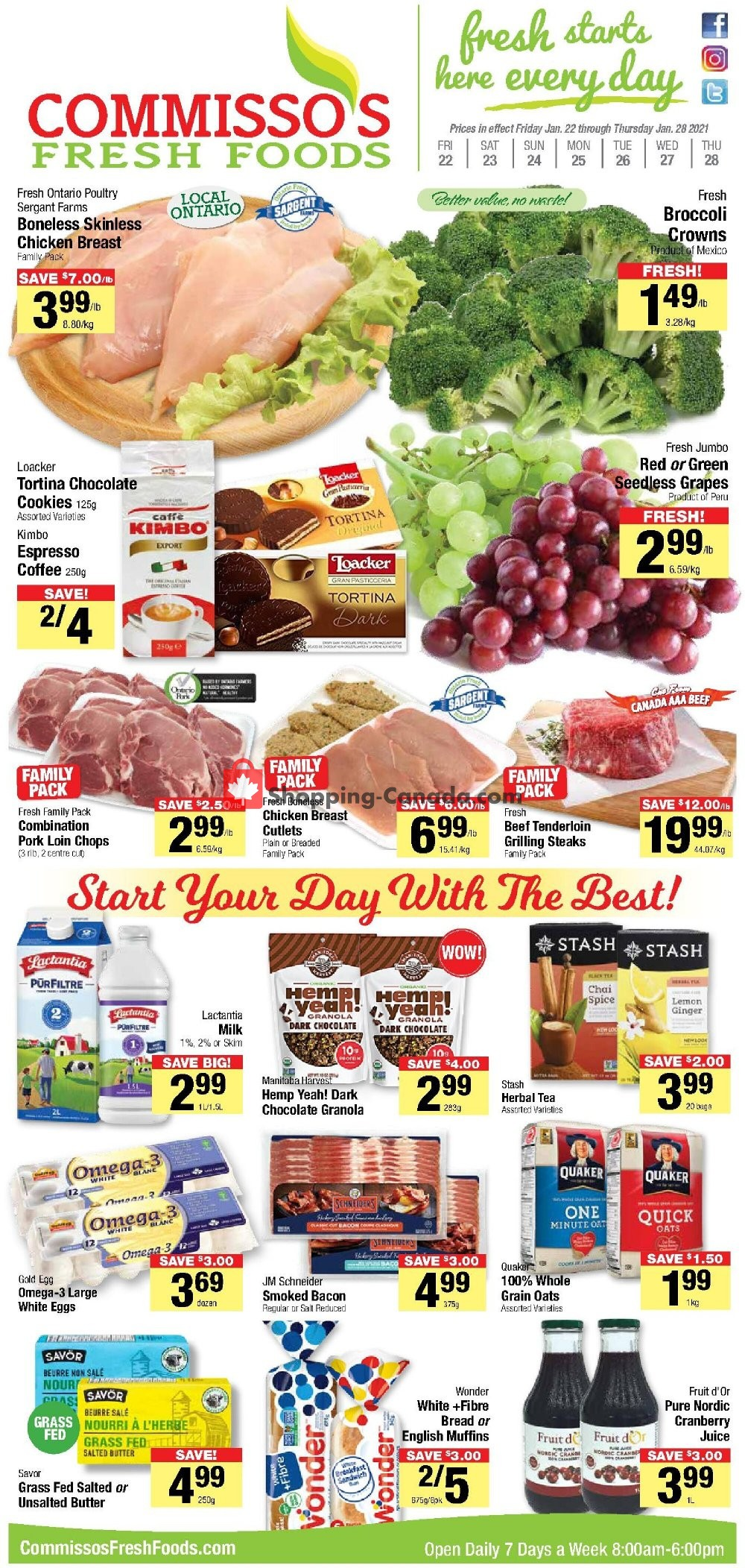 Flyer Commisso's Fresh Foods Canada - from Thursday January 28, 2021 to Thursday January 28, 2021