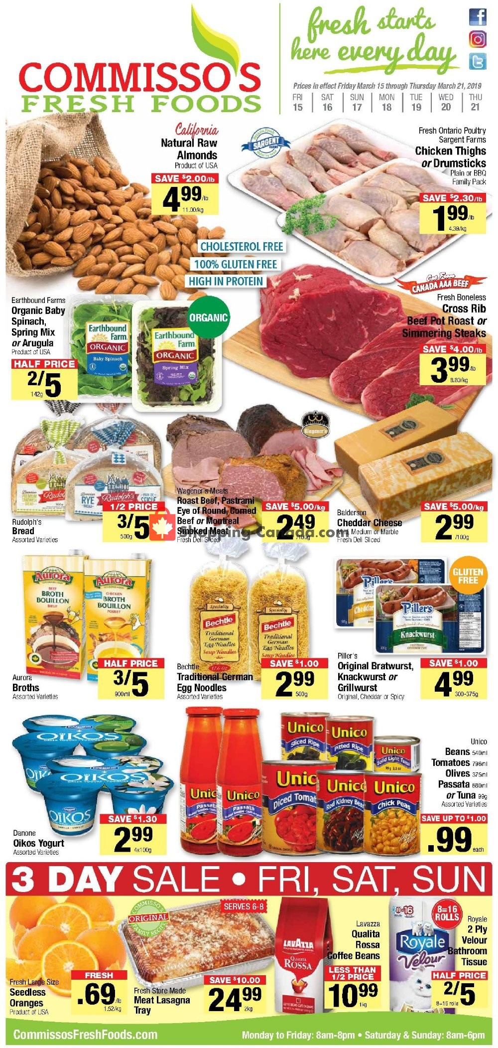 Flyer Commisso's Fresh Foods Canada - from Friday March 15, 2019 to Thursday March 21, 2019