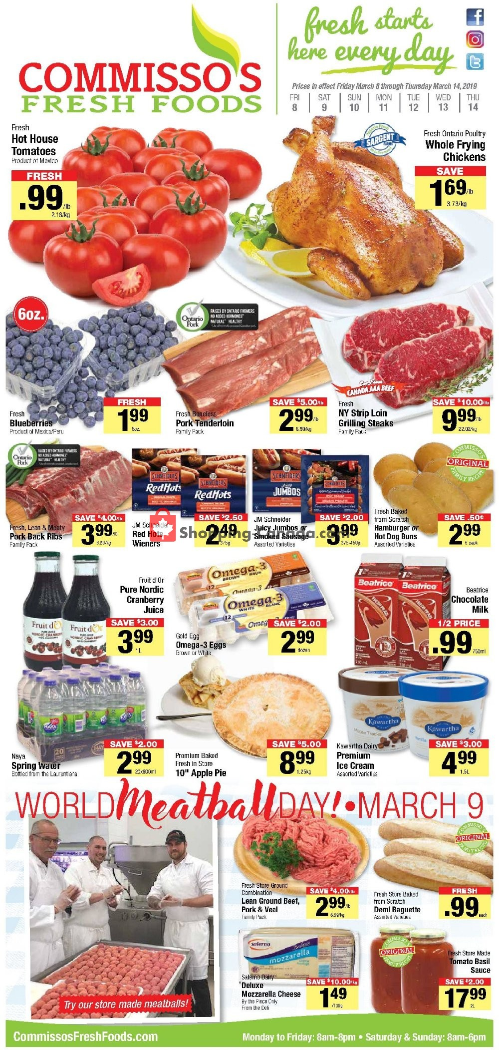 Flyer Commisso's Fresh Foods Canada - from Friday March 8, 2019 to Thursday March 14, 2019
