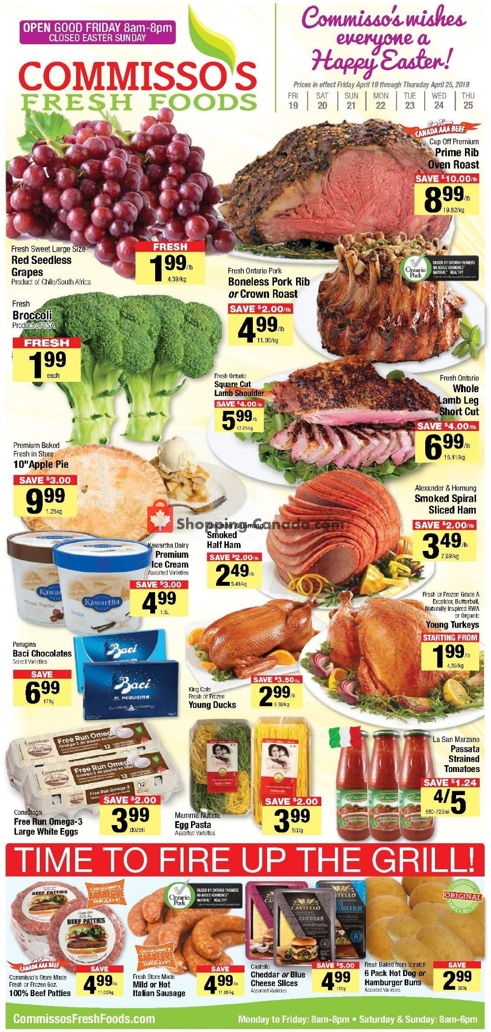 Flyer Commisso's Fresh Foods Canada - from Friday April 19, 2019 to Thursday April 25, 2019