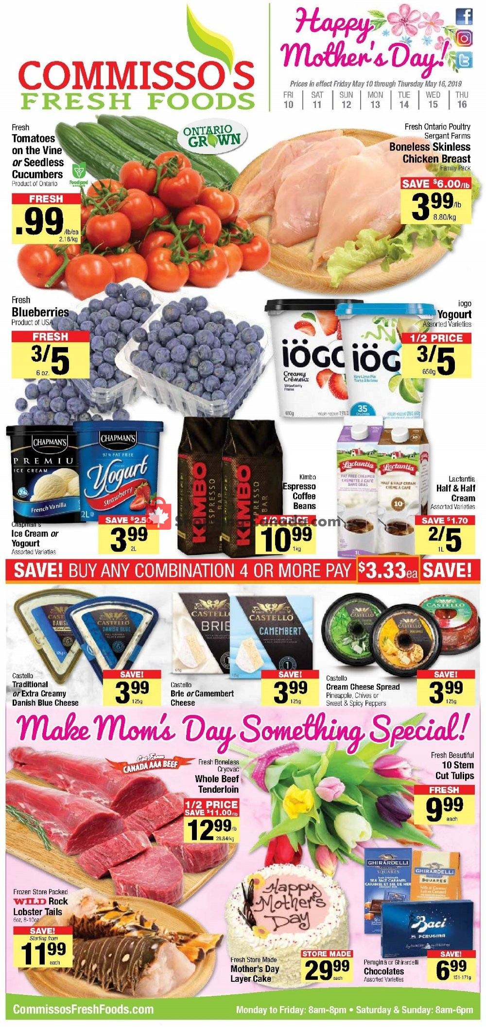 Flyer Commisso's Fresh Foods Canada - from Friday May 10, 2019 to Thursday May 16, 2019