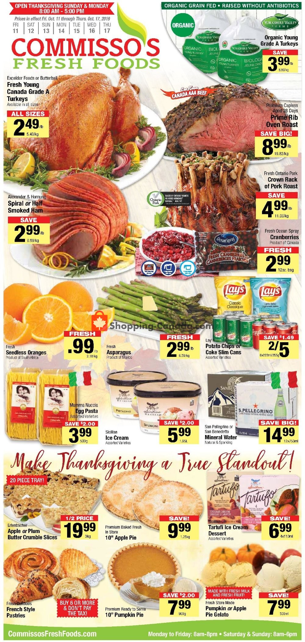 Flyer Commisso's Fresh Foods Canada - from Friday October 11, 2019 to Thursday October 17, 2019