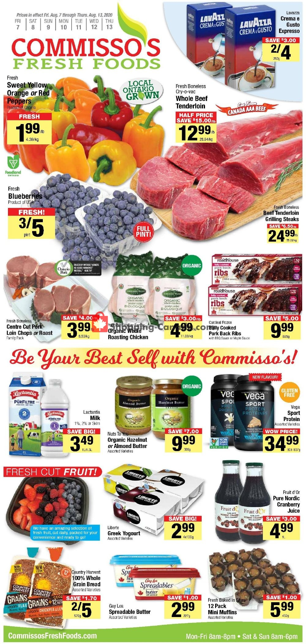 Flyer Commisso's Fresh Foods Canada - from Friday August 7, 2020 to Thursday August 13, 2020