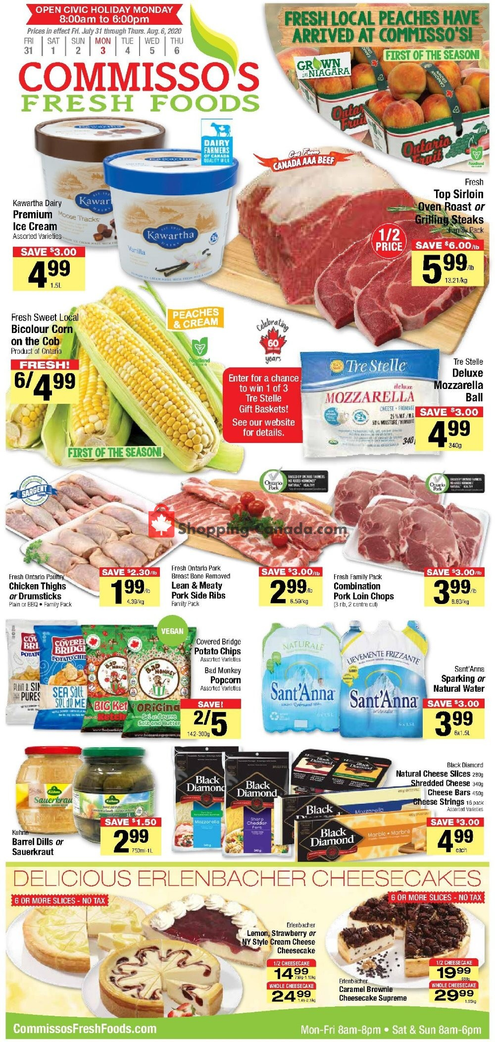 Flyer Commisso's Fresh Foods Canada - from Friday July 31, 2020 to Thursday August 6, 2020