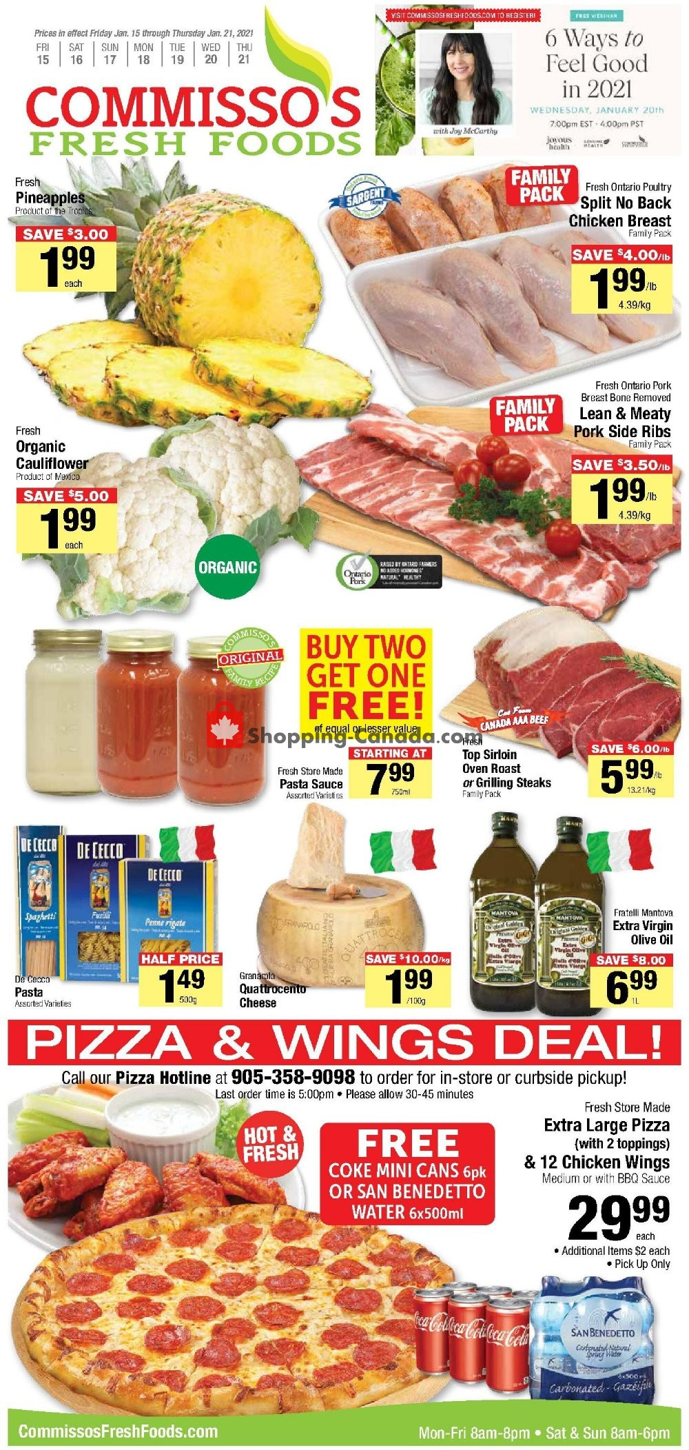 Flyer Commisso's Fresh Foods Canada - from Friday January 15, 2021 to Thursday January 21, 2021
