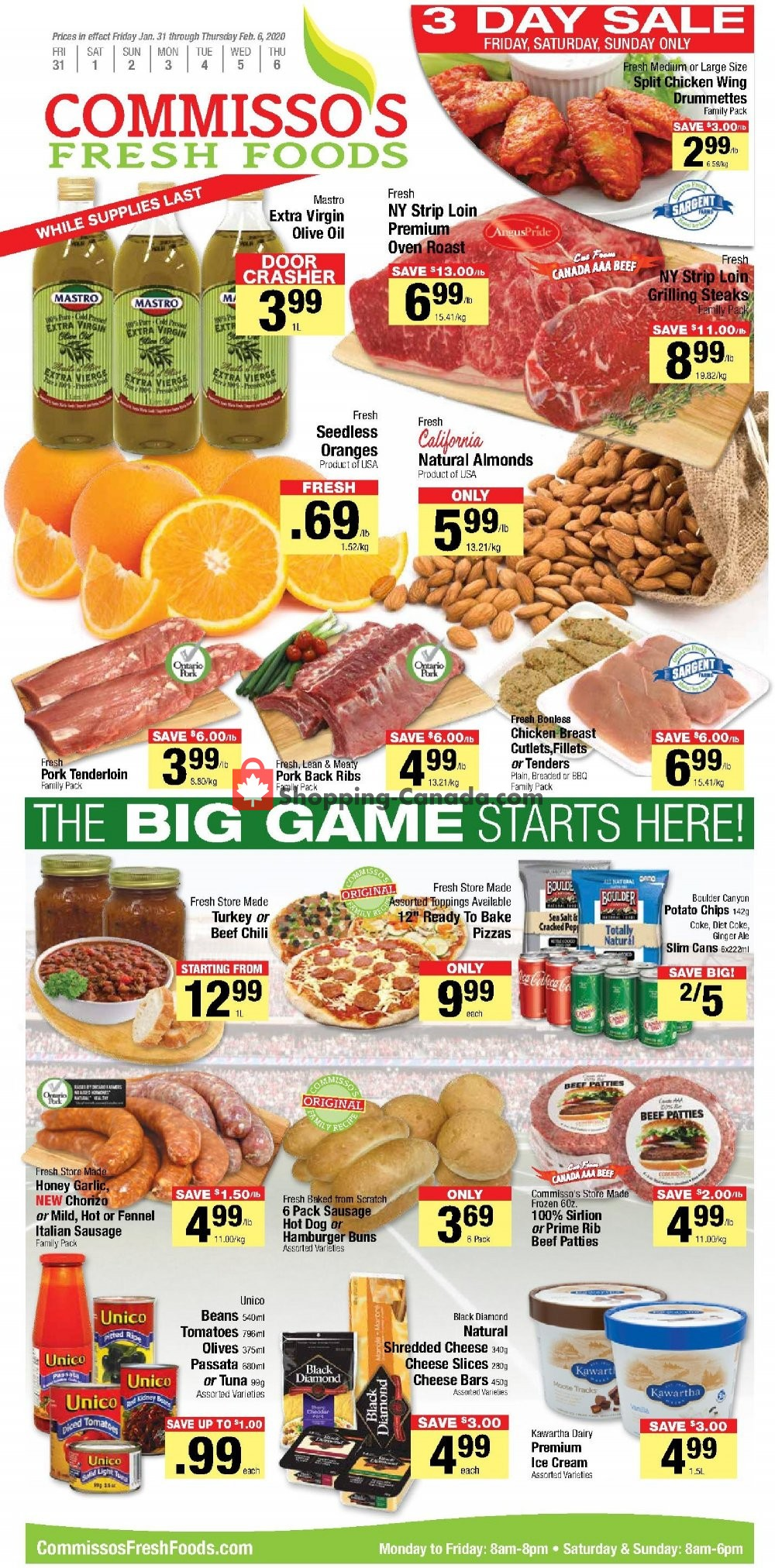 Flyer Commisso's Fresh Foods Canada - from Friday January 31, 2020 to Thursday February 6, 2020