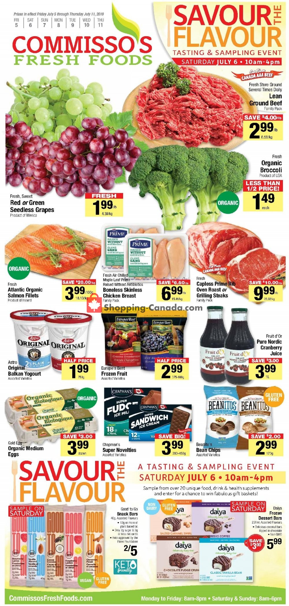 Flyer Commisso's Fresh Foods Canada - from Friday July 5, 2019 to Thursday July 11, 2019
