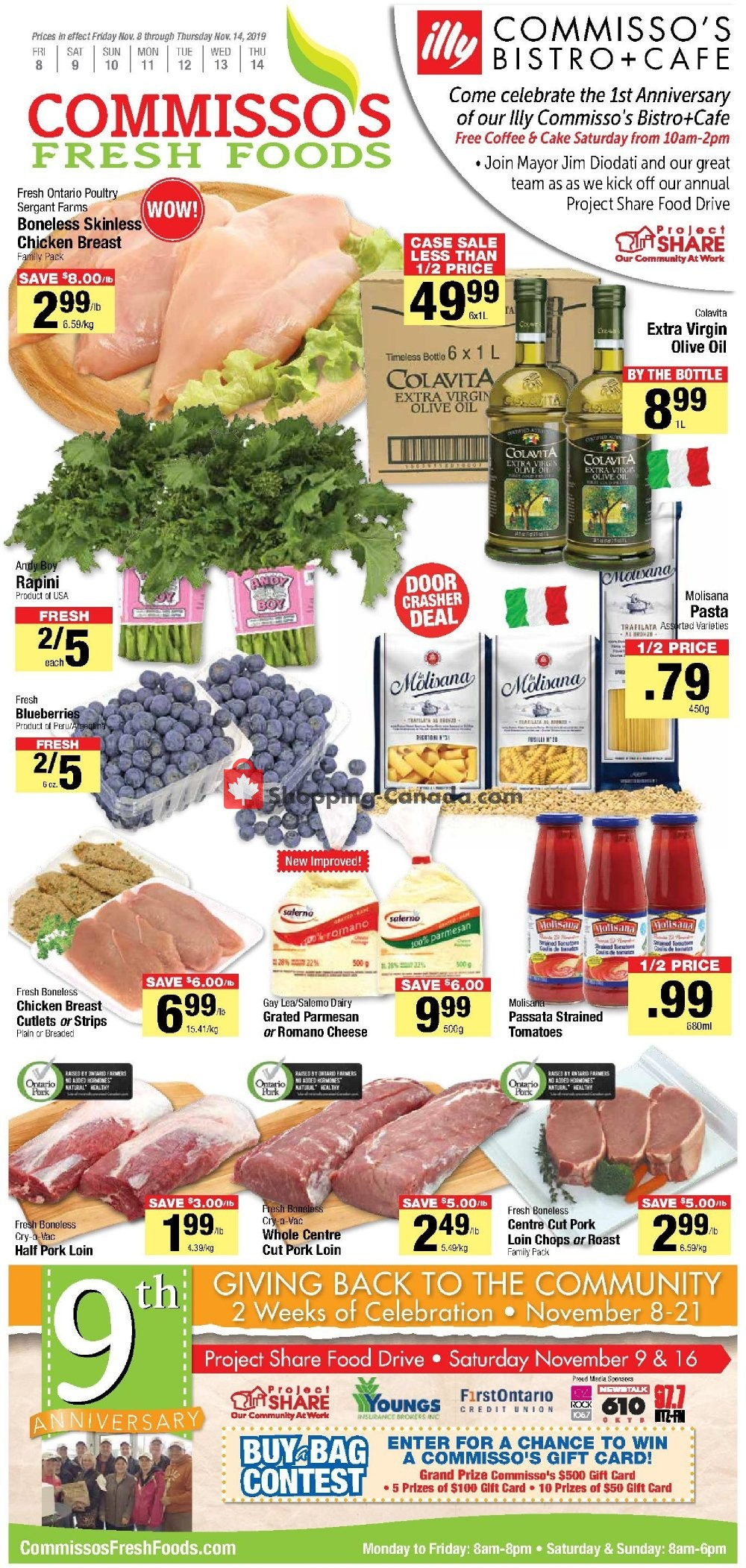 Flyer Commisso's Fresh Foods Canada - from Friday November 8, 2019 to Thursday November 14, 2019