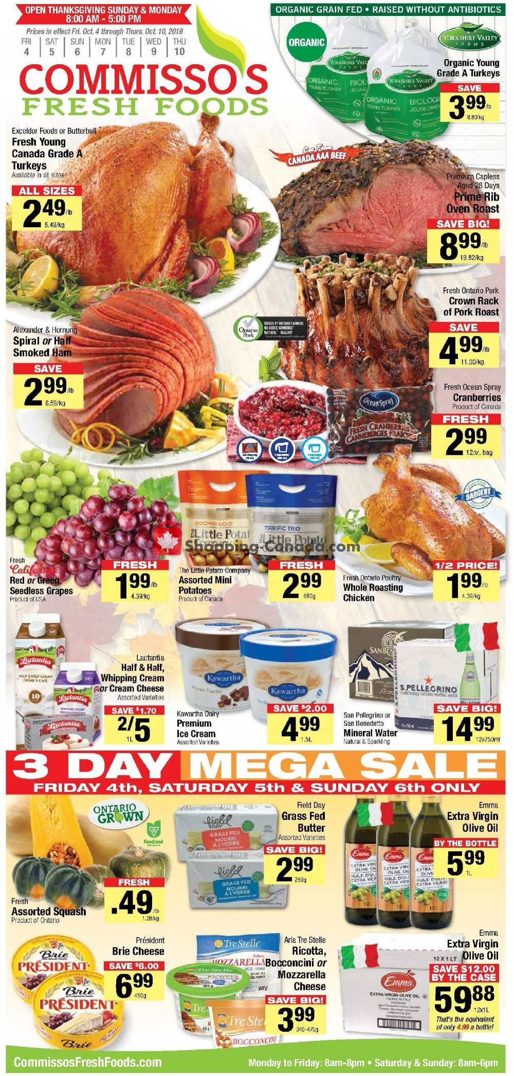 Flyer Commisso's Fresh Foods Canada - from Friday October 4, 2019 to Thursday October 10, 2019