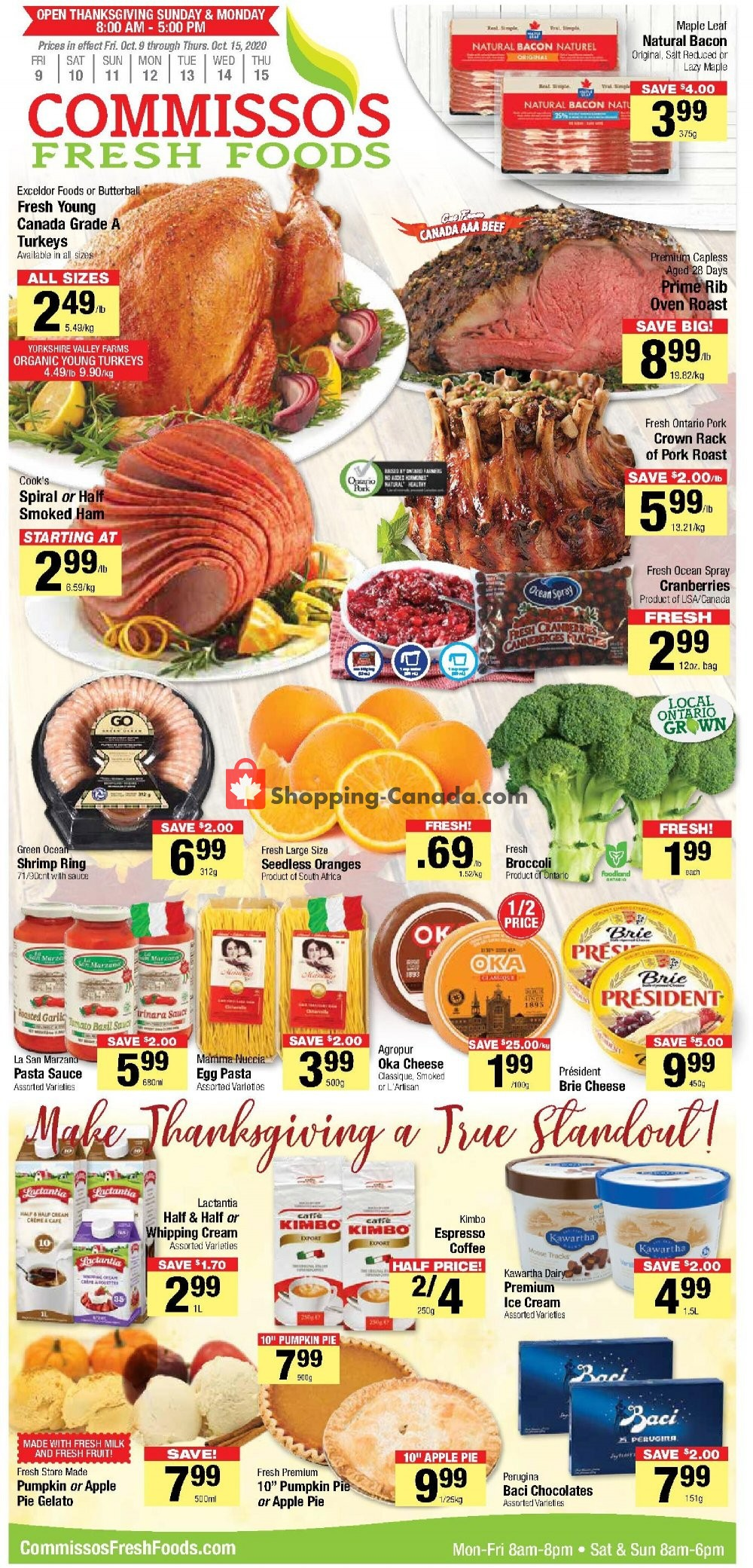 Flyer Commisso's Fresh Foods Canada - from Friday October 9, 2020 to Thursday October 15, 2020
