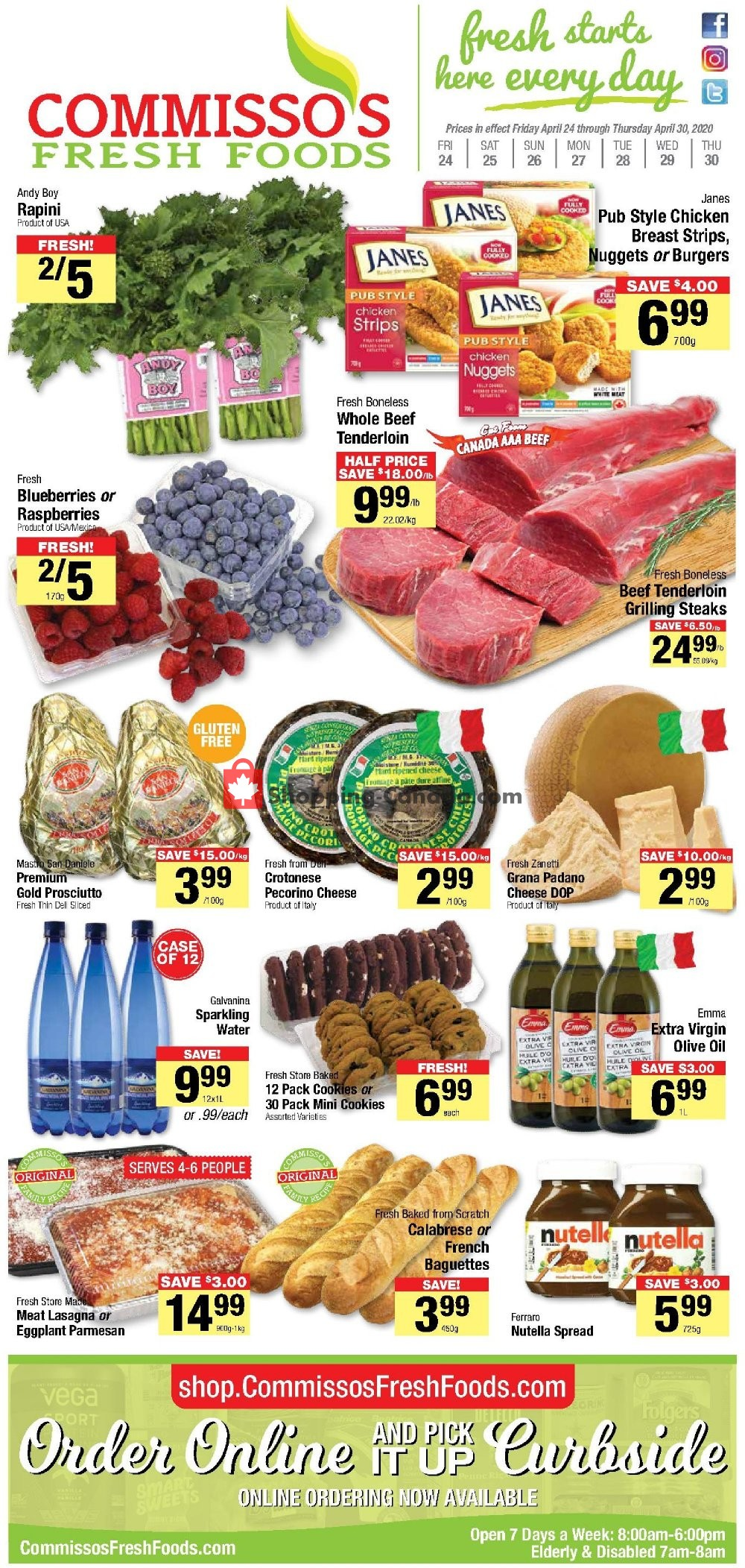Flyer Commisso's Fresh Foods Canada - from Friday April 24, 2020 to Thursday April 30, 2020